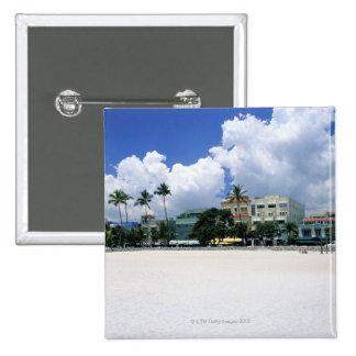 Ocean Drive, South Miam Beach, Miami - Florida 15 Cm Square Badge