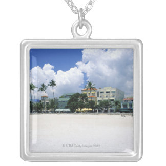 Ocean Drive, South Miam Beach, Miami - Florida Silver Plated Necklace