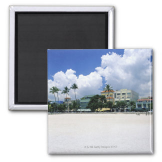 Ocean Drive, South Miam Beach, Miami - Florida Square Magnet