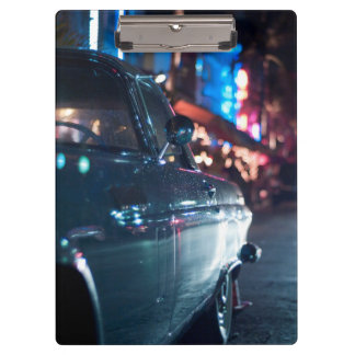 Ocean Drive vintage car Clipboard