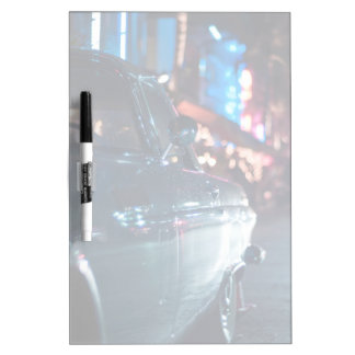 Ocean Drive vintage car Dry Erase Board