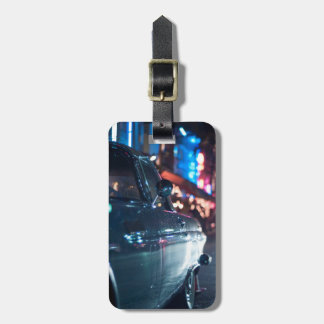 Ocean Drive vintage car Luggage Tag