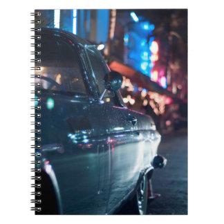 Ocean Drive vintage car Notebook