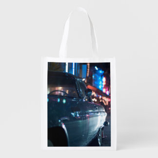 Ocean Drive vintage car Reusable Grocery Bag