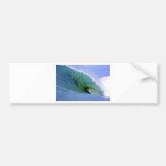 Ocean energy green surfing wave bumper sticker