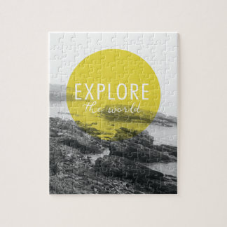 Ocean   Explore The World Quote Jigsaw Puzzle