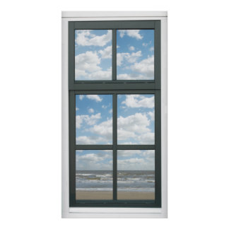 Ocean Fake Window View Poster