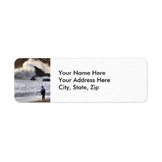Ocean Fishing Return Address Label