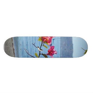 Ocean Flowers Water Boats Beaches Skate Deck