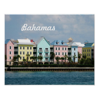 Ocean Front Bahamas Poster