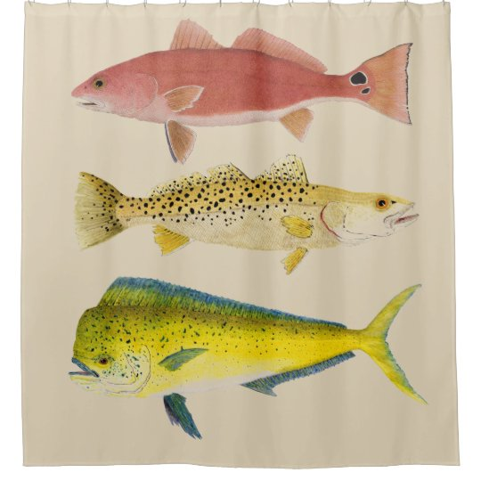 Ocean Gamefish Shower Curtain