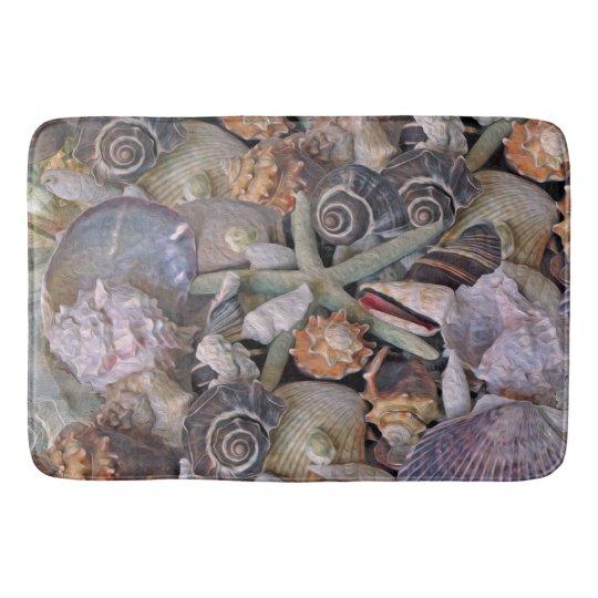 Ocean Gems Seashell Treasure Bath Mats