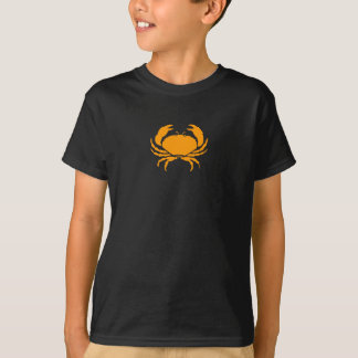 Ocean Glow_Orange on Black Crab T-Shirt