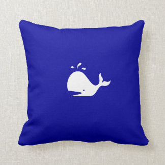 Ocean Glow_White-on-Blue Whale Cushion