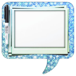 Ocean Ice Blue Stars Star Flare Firework Art Dry-Erase Boards