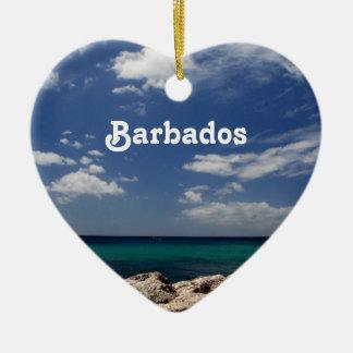 Ocean in Barbados Christmas Ornament