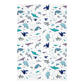 Ocean in Blue Stationery