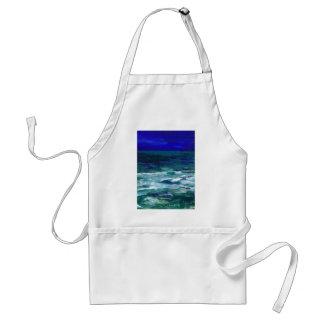 Ocean in the Moonlight Ocean Art Seascape Gifts Aprons