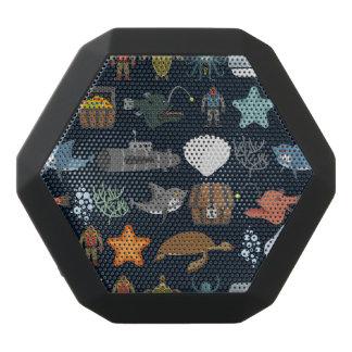 Ocean Inhabitants Pattern 1 Black Bluetooth Speaker