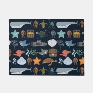 Ocean Inhabitants Pattern 1 Doormat