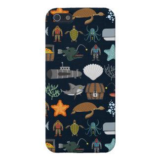 Ocean Inhabitants Pattern 1 iPhone 5/5S Cases