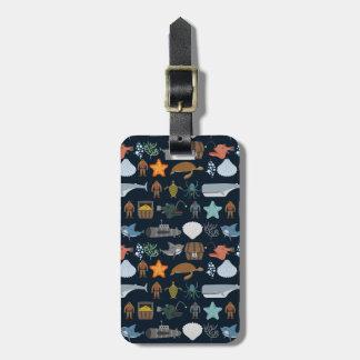 Ocean Inhabitants Pattern 1 Luggage Tag