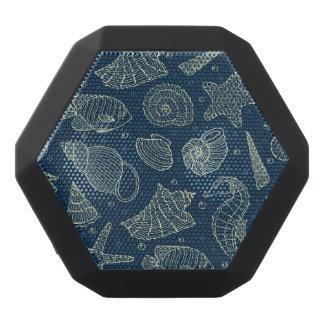 Ocean Inhabitants Pattern 2 Black Bluetooth Speaker