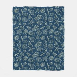 Ocean Inhabitants Pattern 2 Fleece Blanket