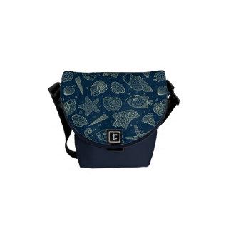 Ocean Inhabitants Pattern 2 Messenger Bags