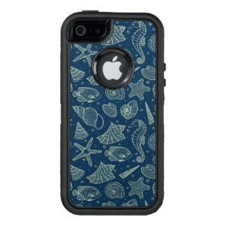 Ocean Inhabitants Pattern 2 OtterBox Defender iPhone Case