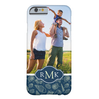 Ocean Inhabitants Pattern| Your Photo & Monogram Barely There iPhone 6 Case