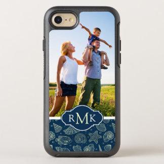 Ocean Inhabitants Pattern   Your Photo & Monogram OtterBox Symmetry iPhone 8/7 Case