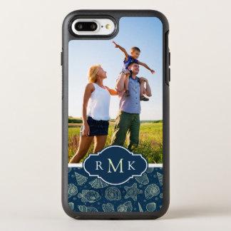 Ocean Inhabitants Pattern | Your Photo & Monogram OtterBox Symmetry iPhone 8 Plus/7 Plus Case