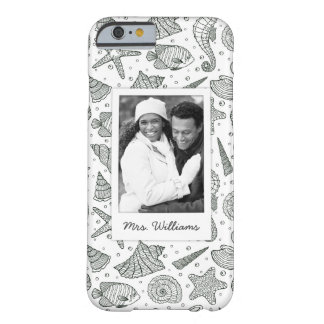 Ocean Inhabitants Pattern | Your Photo & Name Barely There iPhone 6 Case