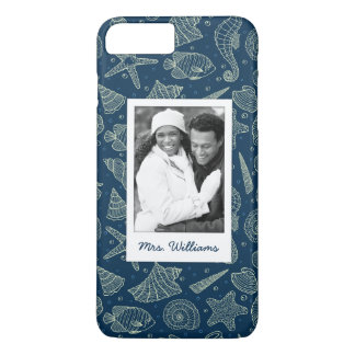 Ocean Inhabitants Pattern | Your Photo & Name iPhone 8 Plus/7 Plus Case