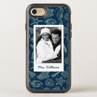 Ocean Inhabitants Pattern   Your Photo & Name OtterBox Symmetry iPhone 7 Case