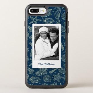 Ocean Inhabitants Pattern | Your Photo & Name OtterBox Symmetry iPhone 7 Plus Case