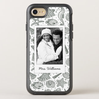 Ocean Inhabitants Pattern | Your Photo & Name OtterBox Symmetry iPhone 8/7 Case