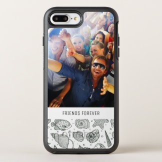 Ocean Inhabitants Pattern | Your Photo & Text OtterBox Symmetry iPhone 8 Plus/7 Plus Case