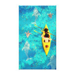 "Ocean Kayak Canoe Art ""Secrets of the Sea"" Medium Canvas Prints"
