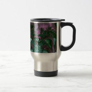 Ocean life fractal travel mug