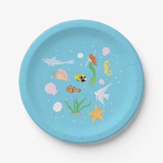 Ocean Life Paper Plate