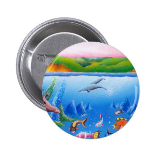 Ocean Life: Save the Planet: Round Button