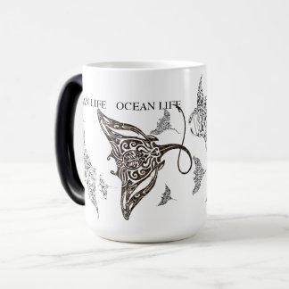 OCEAN LIFE school of manta-ray Magic Mug