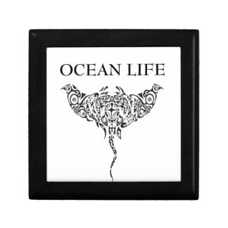ocean life stingray small square gift box