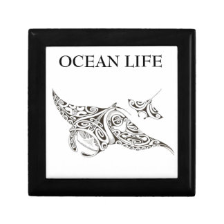 ocean life twin rays small square gift box