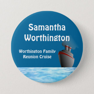 Ocean Liner Cruise Name Badge