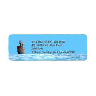 Ocean Liner Return Address Label