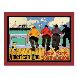 Ocean LINER to New York Postcards