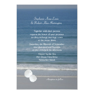 Ocean Love, Sand Dollar Wedding Invitation